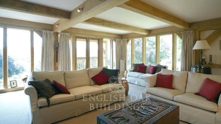 Oak House, direct glazing, Oak beams, Bradford-on-Avon, Wiltshire,