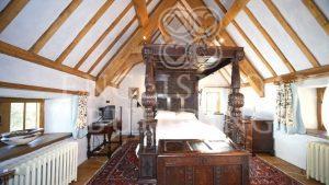 oak frame house roof, archbrace truss