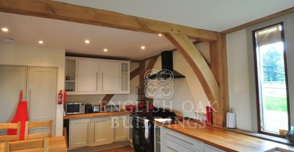 Oak frame House Barn Conversion, New Forest, Hampshire, kitchen