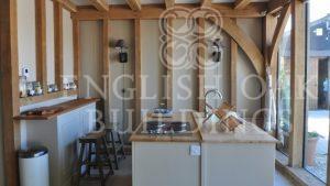oak frame garden accommodation with kitchen