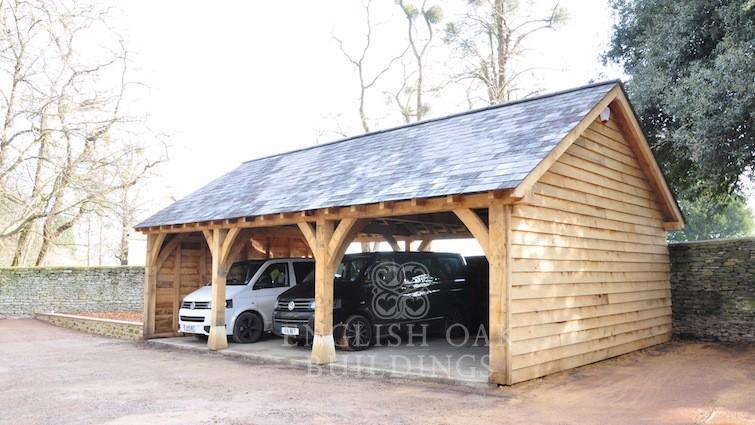 Garages barns english oak buildings for Due bay garage
