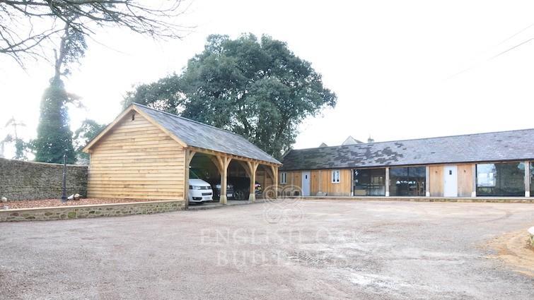 Garages barns english oak buildings for Three bay garage
