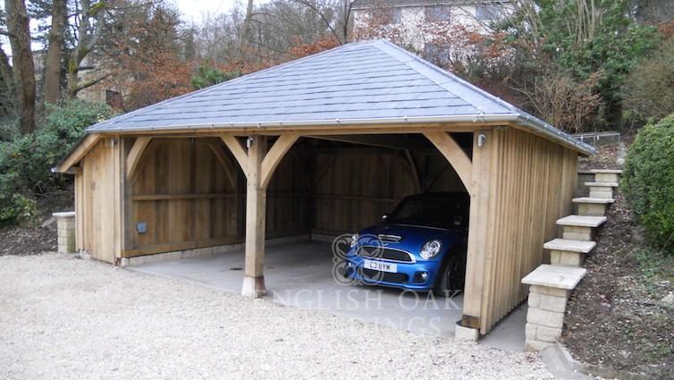 Two Bay Garages English Oak Buildings