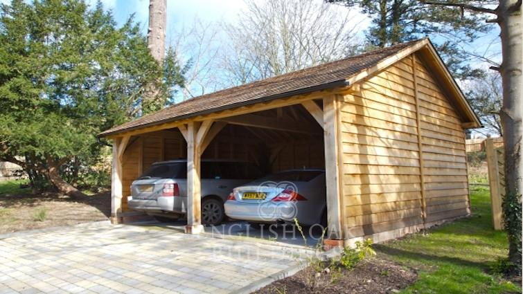 Two bay garages english oak buildings for 2 bay carport