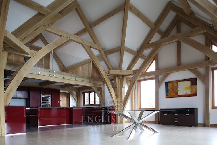 Oak-Frame-house-sling-brace-truss-Holyport-Berkshire