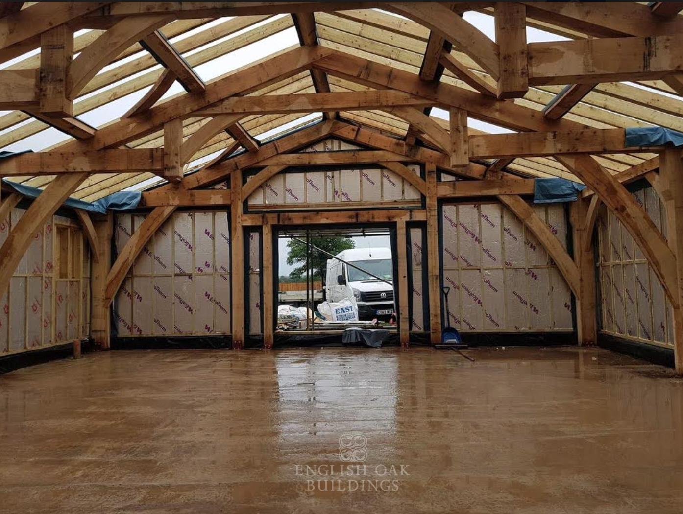 Our Recent Barn Project Hammer Beam Truss Design